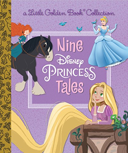 Nine Disney Princess Tales (Disney Princess) (Little Golden Book Collection)