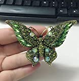 Broche JXtong2 con diseño de mariposa grande y ramo de flores de cristal, accesorio para la diadema, accesorio para mujer