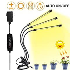 Sunlight Full Spectrum: 3 Heads indoor plant light brighter than other plant grow light and lower heat.High performance and efficient features make your plants grow faster and healthier,promotes photosynthesis, increases growth rate,Ideal for all sta...