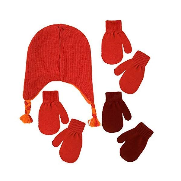 Sesame Street Elmo Hat and 2 Pair Mittens Cold Weather Set