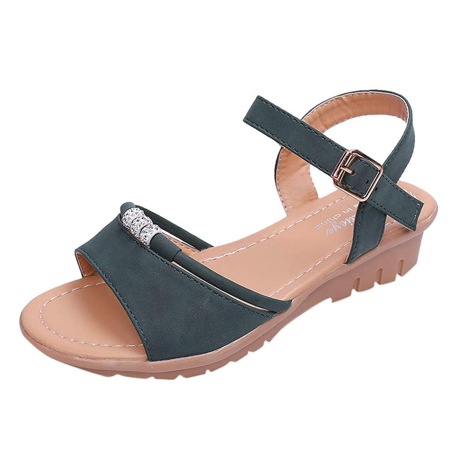 Toimothcn Girls Beach Sandals, Women's Cute Open Toes One Band Ankle Strap Flexible Summer Flat Sandals