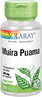 Solaray Muira Puama Root 600 mg | Healthy Energy, Physical Performance & Libido Support | 50 Servings | 100 VegCaps