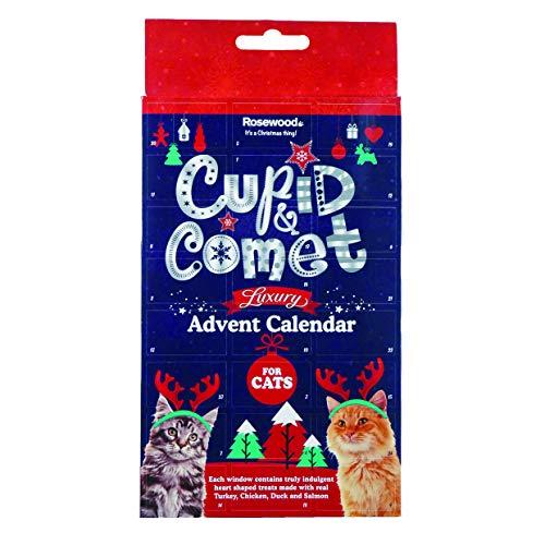 ROSEWOOD Calendrier de l'Avent de Luxe Cupid&Comet, friandises avec viande et poisson - Pour chat