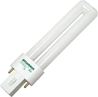 (10 Pack) Sylvania 21277 CF7DS/827/ECO 7-Watt 2700K 2-Pin Single Tube Compact Fluorescent Lamp