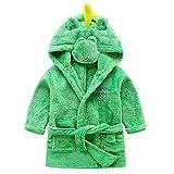 Kinder Baby Bademantel mit Kapuze Badetuch Kapuzenhandtuch Kapuzenbadetuch Schlafanzug Tier Motiv für Mädchen Jungen
