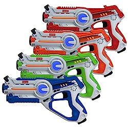 cheap Kidzlane Laser Tag-Set of 4 Laser Tag Guns-Multifunctional Laser Tag Gun for Kids 4 Players-…