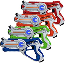 Kidzlane Laser Tag Guns Set of 4   Lazer Tag Guns for Kids with 4 Team Players   Indoor and Outdoor Laser Tag Play Toy for Kids and Teens Boys and Girls   Ages 8+