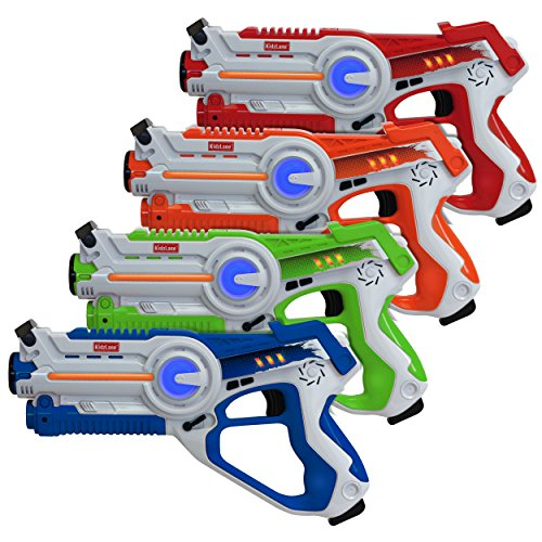 Kidzlane Laser Tag – Laser Tag Guns Set of 4 – Multi Function Lazer Tag Guns for Kids 4 Players – Indoor, Backyard, Outdoor Game for Kids, Adults, and Family