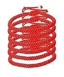 LOYALLOOK 6pcs Handmade Kabbalah Red Black String Good Luck Bracelet for Prosperity and Success Red