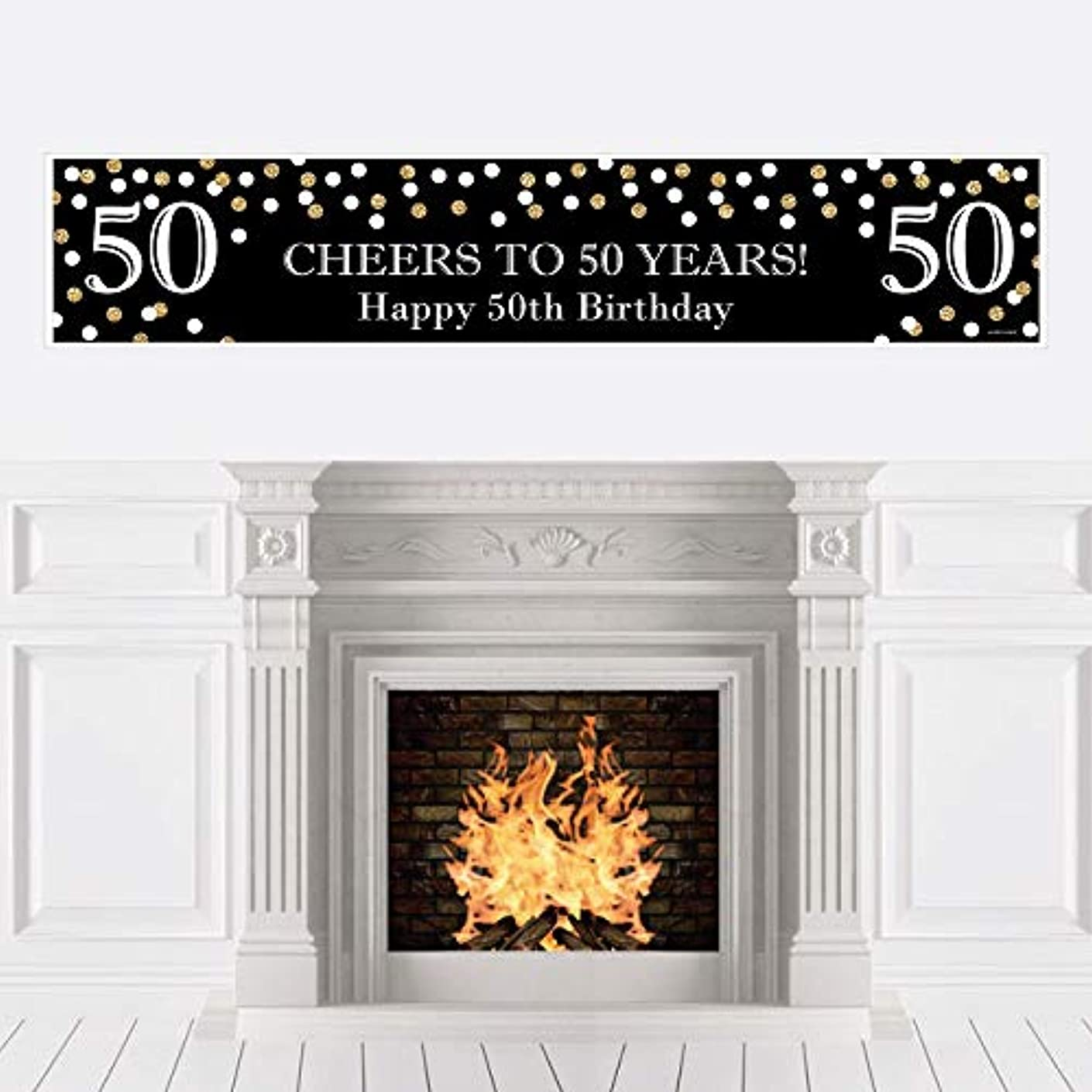Big Dot of Happiness Adult 50th Birthday - Gold - Birthday Party Decorations Party Banner
