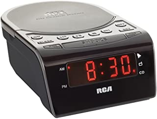 RCA RC5610 CD Clock Radio with Stereo Speakers (Black) (Discontinued by Manufacturer)