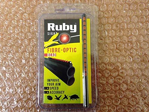 Ruby FIBRE OPTIC SHOTGUN SIGHT ORANGE BEAD 120MM HUNTING SPORTING