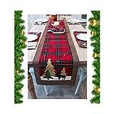 1 Pieza Mantel, Camino de Mesa de Navidad, Decoración de Vajilla de Navidad, Camino de Mesa o Tapete de Aparador, Accesorio de Mesa Decorativo, Tela para Decoración de Mesa o Restaurante, para Navidad