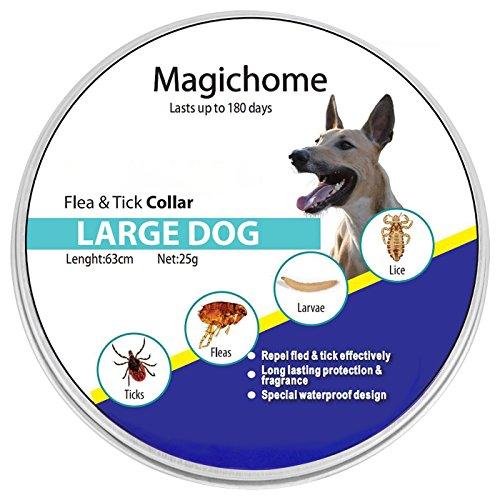 Magichome Collar Antiparasitario para Perros contra Pulgas, Garrapatas y Mosquitos