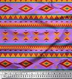 Soimoi Lila Seide Stoff geometrisch afrikanisch Stoff