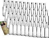 gouveo 42 Leere Glasflaschen Bordeaux 250 ml incl. Schraubverschluss und...