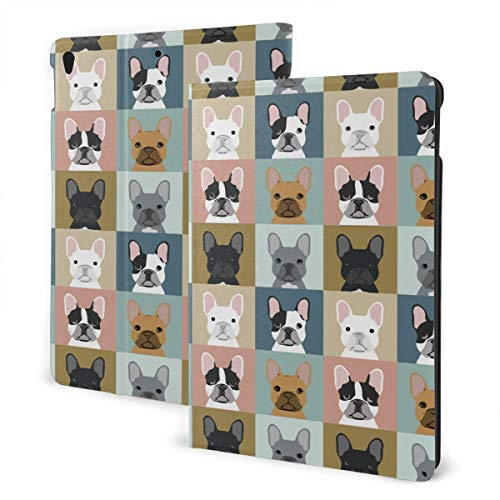 French Bulldog Pattern Case for IPad Air 3rd Gen 10.5' 2019 / IPad Pro 10.5' 2017 Multi-Angle Folio Stand Auto Sleep/Wake for IPad 10.5 Inch Tablet
