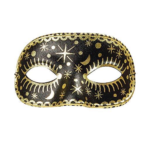 Moon/Star Domino, Black Mask, Fancy Dress, Accessory