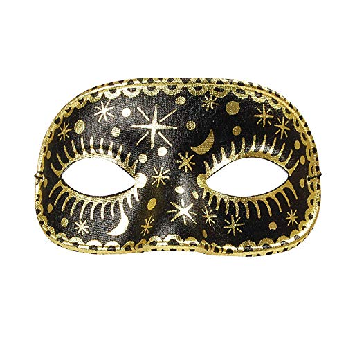 Moon/Star Domino, Black Mask, Fancy Dress, Accessory