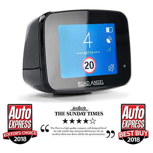 Road Angel Pure Award Winning Speed Camera Detector, Black