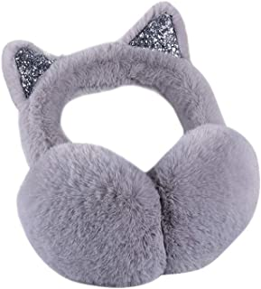 Woman Earmuffs - Women's Plush Cat Earmuffs Winter Warm Cat Ear Earmuff Outdoor Cold Weather Cat Ears Folding Earmuffs