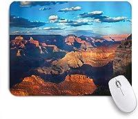 ZOMOY マウスパッド 個性的 おしゃれ 柔軟 かわいい ゴム製裏面 ゲーミングマウスパッド PC ノートパソコン オフィス用 デスクマット 滑り止め 耐久性が良い おもしろいパターン (グランドキャニオン日の出の空と雲の歴史的な岩の形成)
