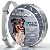 DYEOF Flea Tick Collar for Dogs - 12 Months Protection - Hypoallergenic, Adjustable & Waterproof Dog Collar - Flea Treatment Tick Prevention Natural Essential Oil [Upgrade Version]