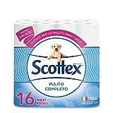 Scottex Pulito Completo Carta Igienica, Confezione da 16 Rotoli Maxi - 1830 gr