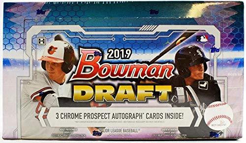 2019 Bowman Draft Baseball Hobby Jumbo Box (12 Packs/32 Cards: 3 Autos, 24 Parallel)