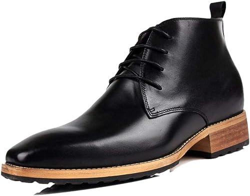 Cuero Suave Puntiagudo Caballero zapatos Derby para Hombre Buen Cuero Transpirable Chelsea marrón negro