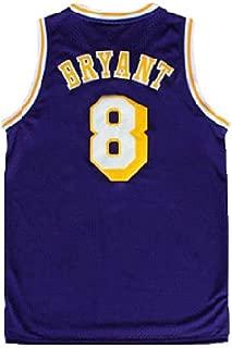 Gseras Youth Kobe Jersey Kid's Retro Jerseys Los Angeles 8 Boy's Basketball Jersey Purple (S-XL)