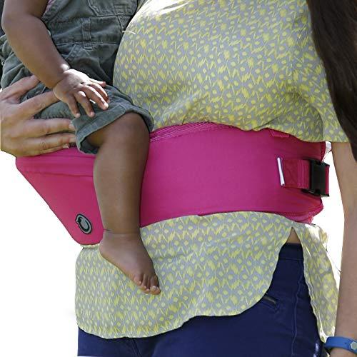 Hippychick - Hipseat - Asiento portabebés - Sencillo y ergonómico - Rosa