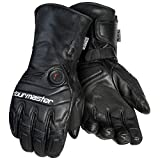 Tourmaster Synergy 7.4V Battery Heated Leather Gloves (Medium) (Black)