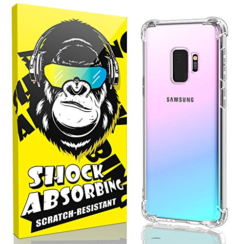 Samsung Galaxy S9 Case, iCaber Soft & Flexible TPU [Scratch-Resistant],4 Corners Bumpers Protection Designed [Shock-Absorbing] Crystal Clear Case for Samsung Galaxy S9 5.8 Inch