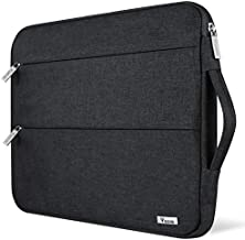 Voova 15.6 14 15 Inch Laptop Sleeve Case with Handle, Waterproof Computer Cover Bag with Pocket Compatible with 2019 MacBook Pro 16/15, Dell Lenovo HP Asus Acer Samsung Chromebook, Black
