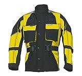 Roleff Racewear RO-43K, Chaqueta de moto para niños con ancho ajustable y reflectores, Negro/Amarillo (Schwarz?Gelb), L