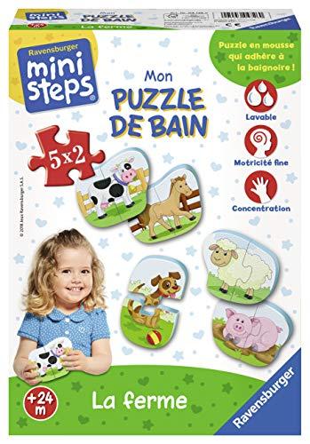 Ravensburger - 04726 - Puzzle bain-la ferme - Ministeps