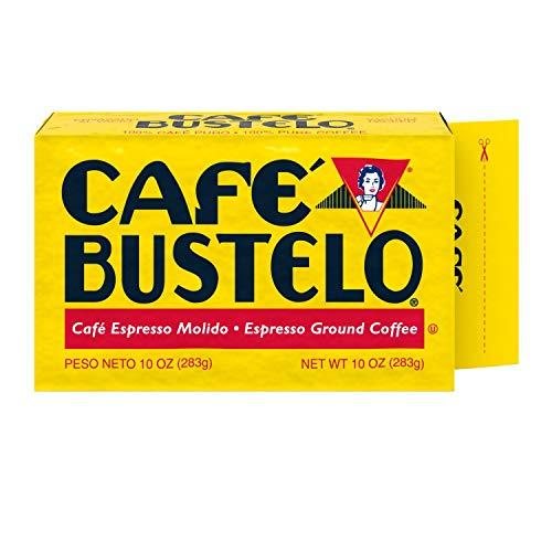Café Bustelo Espresso Dark Roast Ground Coffee Brick, 10 Ounces (Pack of 24)