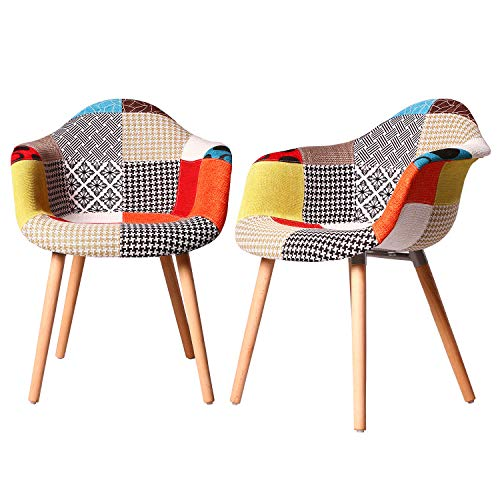 ELIGHTRY Esszimmerstühle 2er Set Esszimmerstuhl mit Lehne Design Stuhl Küchenstuhl Holz