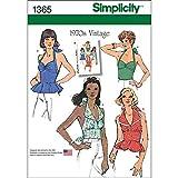 Simplicity 1970's Vintage Pattern 1365 Misses Vintage Style Halter Tops Sizes 14-16-18-20-22