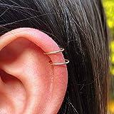 6mm Mini Gold Cartilage Helix Hoop Earrings...