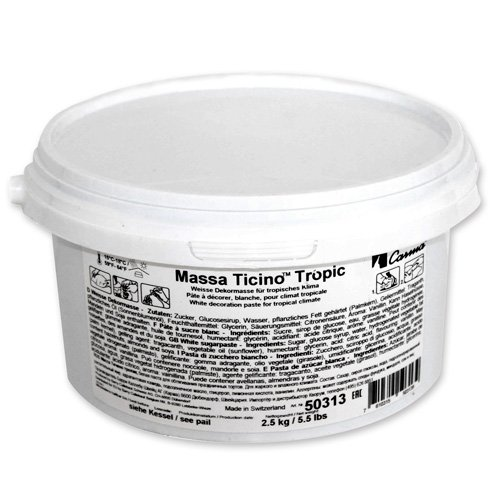 CARMA - PASTA di ZUCCHERO Massa Ticino Tropic 2,5kg Bianco