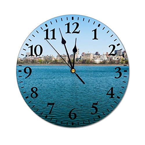 happygoluck1y New York City Central Park - Reloj de pared re