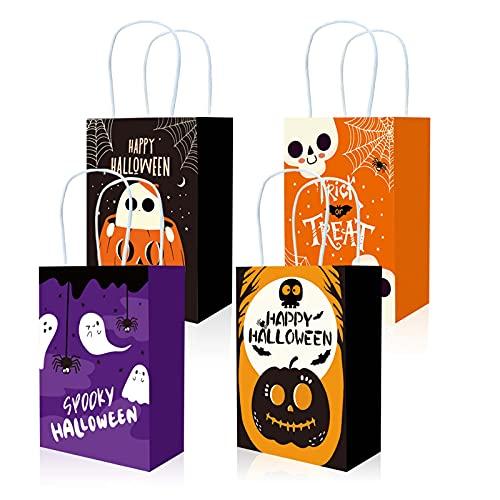 PRATYUS ハロウィン紙袋 ギフトバッグ Halloween手提げ袋 かぼちゃ 幽霊 4柄12枚
