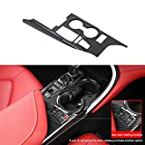 Kadore Gear Shift Panel Water Cup Holder Cover Trim for Toyota Camry XSE XLE 2018-2021 Interior Carbon Fiber Style LHD 1pc (Has Seat Heater Location)
