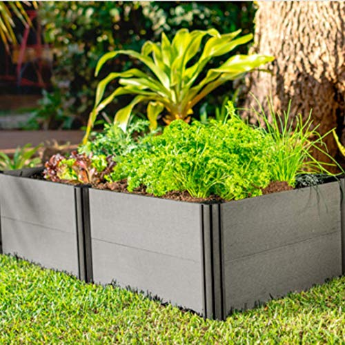 Watex Urban Farming WX038 Two Tiers Raised Garden Bed Kit,Micro Irrigation kit included, Grey