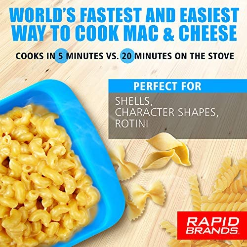 rapid mac cooker microwave macaroni cheese in 5 minutes perfect for dorm small kitchen or office dishwasher safe microwaveable bpa free