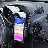 Handyhalterung Auto,Kfz Handyhalterung für iPhone Universale Handyhalter Auto für Armaturenbrett/Windschutzscheiben Stoßfest-Stabilisator-Design Halterung Auto für iPhone13/12/11/X,Galaxy20/10,LG usw