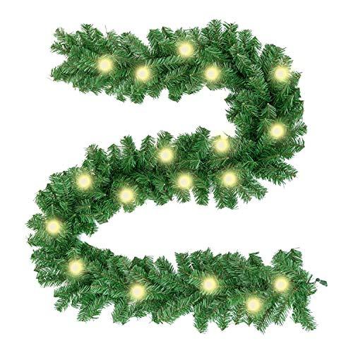 Happylohas Ghirlanda Natalizia, Ghirlanda Natale, Ghirlanda di Natale Artificiale Pino Corona ghirlande, Ghirlanda di Natale in Rattan, Camino Decorativo, Porta, Albero (00C)