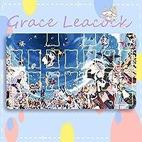 GraceLeacock カードゲームプレイマット 遊戯王 プレイマット Azur Lane アズールレーン Honolulu ホノルル アニメグッズ TCG万能 収納ケース付き アニメ 萌え カード枠あり (60cm * 35cm * 0.2cm)